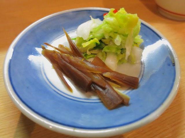 甘めのかつ丼の箸休めとなる漬物