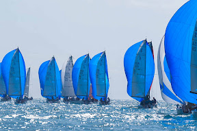 J70s sailing downwind- Key West