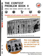 The Contest Problem Book II - 1961-1965