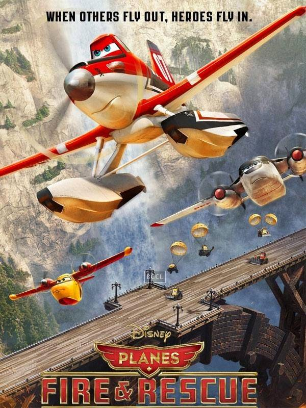 Poster of Hollywood animation film Planes: Fire & Rescue.