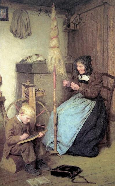 Albert Anker - Die Arbeitsamen.1883