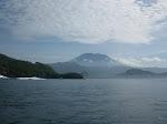 Gili Trawangan: vue sur le mont Agung