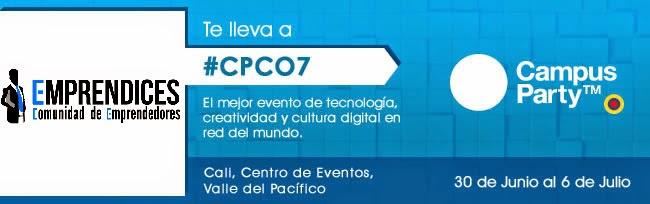 Estamos sorteando 3 entradas para Campus Party Colombia #CPCO7. Anímate a participar!