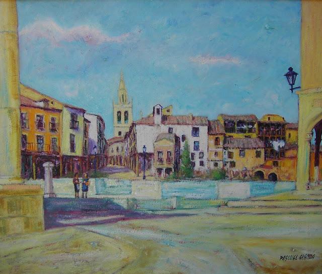 Medina de Rioseco,pintura de Pascual Aranda