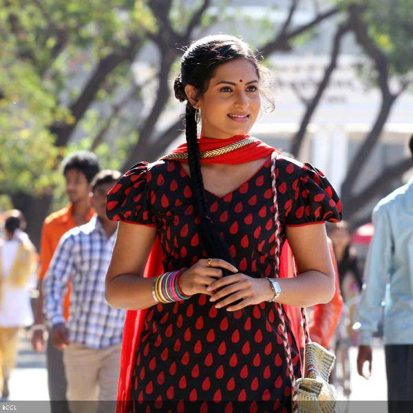 Richa Pariyali in a still from the Marathi movie Duniyadari.