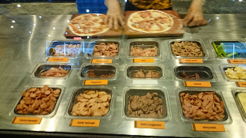 Pick your meat toppings at Pizza Republic