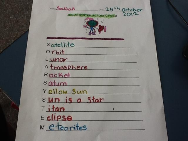 solar system acrostic poem - photo #1