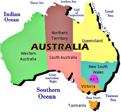 Australia A Land Down Under November - Map of western australia with cities