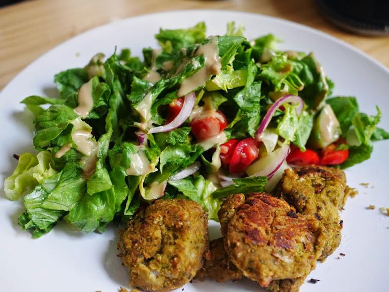 30 Days of Salad: Day 3 Falafel Salad with Tahini Sauce