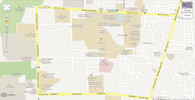 KIIT Campus-Shikhara chandi Road- infocity  Area Map Bhubaneswar