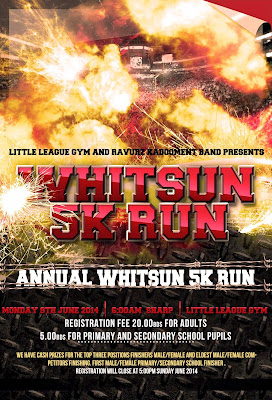 Little League Gym 5K on Monday, June 9th, 2014 at 6:00am