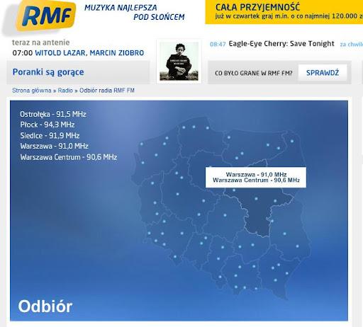 波蘭最熱門的流行電台RMF FM網站!