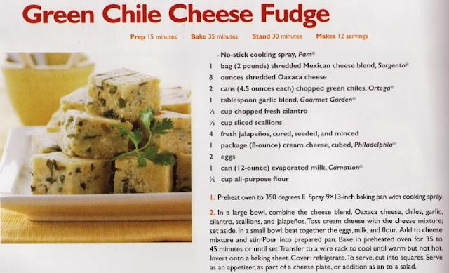 Green Chile Cheese Fudge | Sandra Lee Semi-homemade Weeknight Wonders 2009