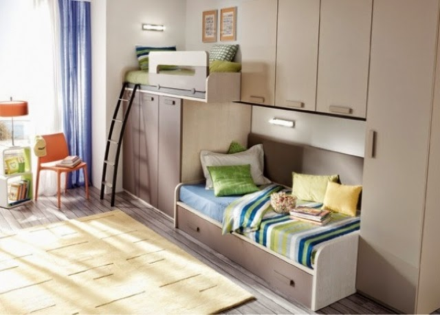 Dormitorios juveniles camas tren for Camas para chicos