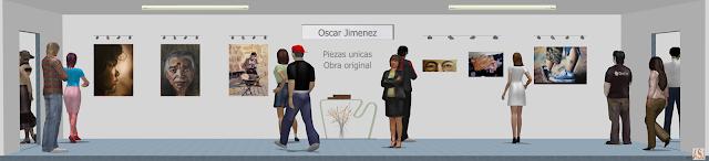 Sala de exposición virtual de pinturas de Oscar Jiménez