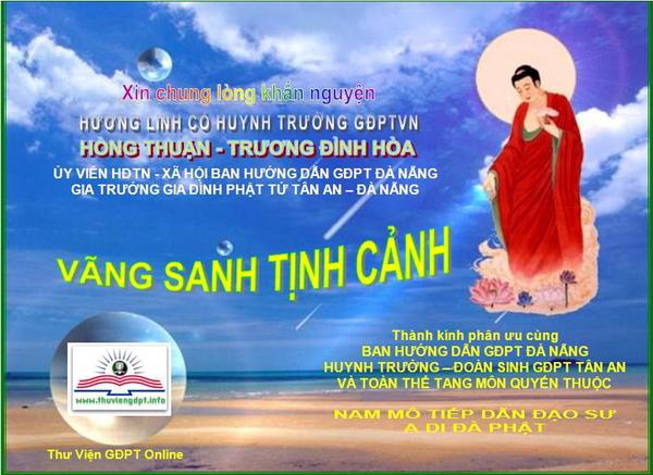 Phân ưu cùng BHD Thừa Thiên & Tang Gia HT Nguyên Truyền