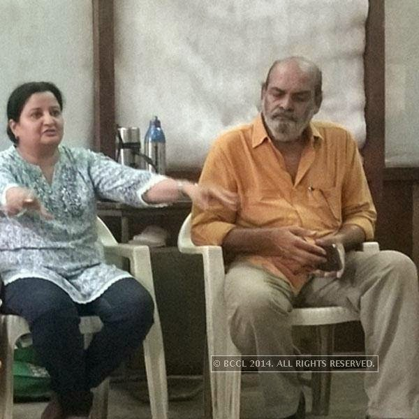 Diana Rawal and Raju Barot at a theatre workshop in Ahmedabad.