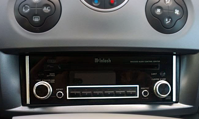 McIntosh MX5000 installed on the dashboard