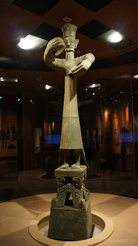 "Bronze ""Head of Wizards,"" Sanxingdui Relic Museum, Chengdu"