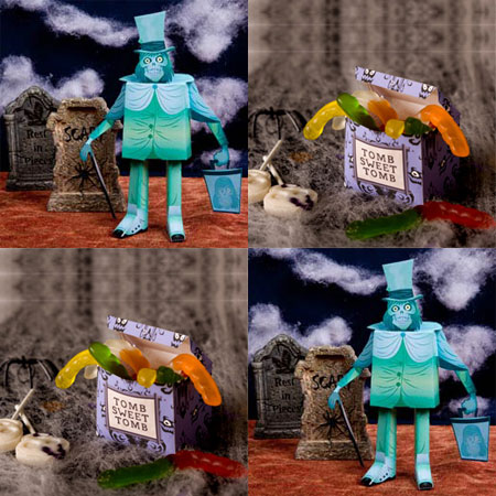The Haunted Mansion Hatbox Ghost Papercraft Tomb Sweet Tomb Candy Box