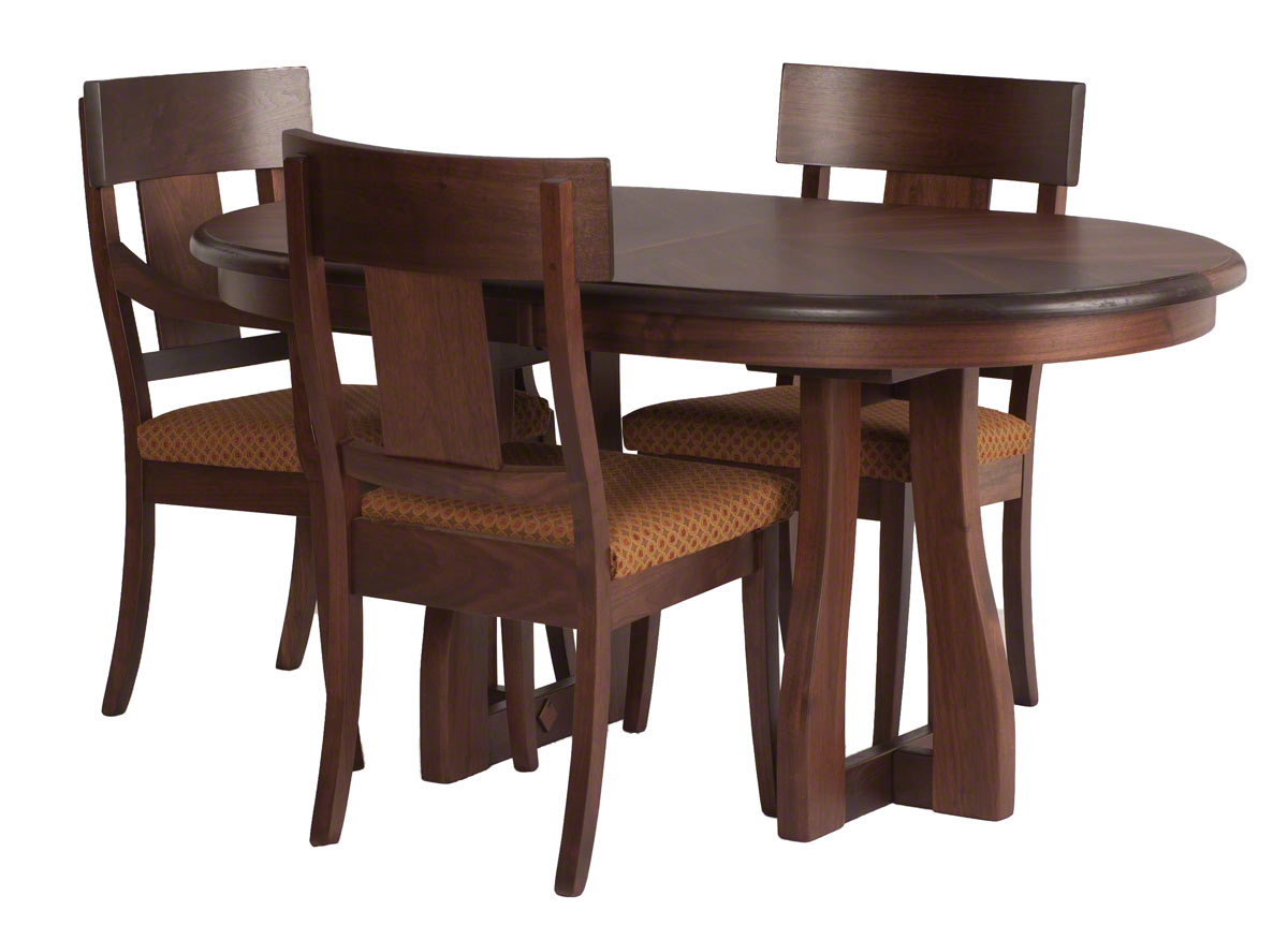 60 X 36 Brewster Dining Table And Chairs In Winter Walnut
