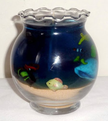 Handmade Aquarium Candle by Mylana