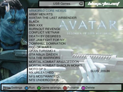 Download Gratis Free Full Lengkap Open PS2 Loader OPL versi 0.8 Terbaru Update PlayStation 2 Keren Bagus Kartun Anime RAR ZIP Cara Trik Tips Mengganti Tema Theme Skin Game Tampilan