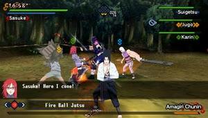 Naruto Shippuden: Kizuna Drive(US).iso psp screenshot 4