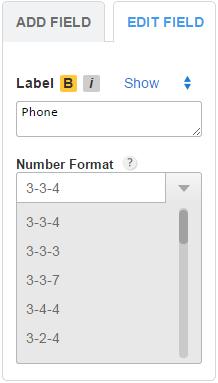 Custom Phone Field
