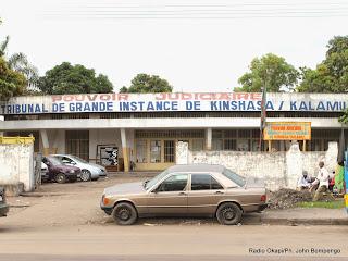 Tribunal de grande instance de Kinshasa/Kalamu situé dans la commune de Kasa-vubu à Kinshasa. Radio Okapi/Ph. John Bompengo