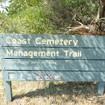 Sign to Coast Cemetery Management Trail near Botany Bay National Park (310469)