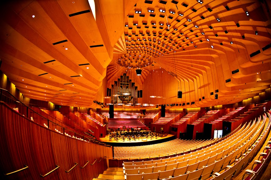 Inside of a theater in Sydney Opera House