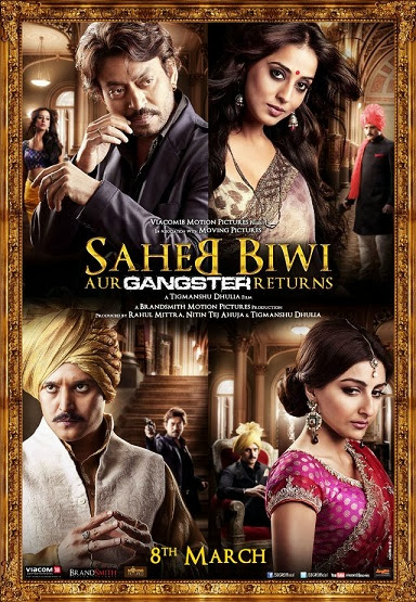 Poster Of Hindi Movie Saheb Biwi Aur Gangster Returns (2013) Free Download Full New Hindi Movie Watch Online At alldownloads4u.com