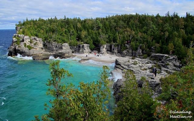 Indian Head Cove in septembrie.