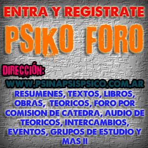 PsikoForo - Foro de los Estudiantes de Psicología UNLP