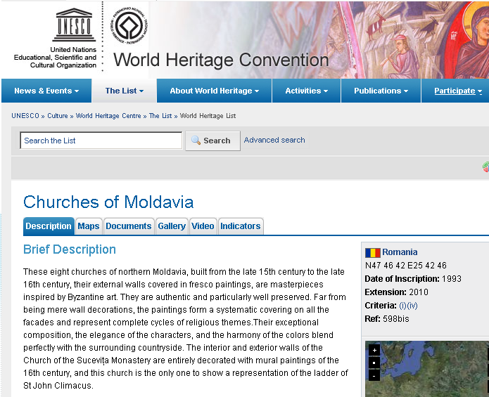 UNESCO: Churches of Moldavia
