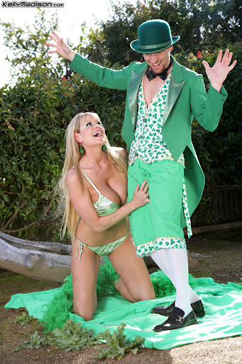 Kelly Madison In Pot-O-Greens