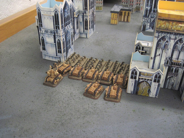 Guardsmen out of cover? Truly a tactic of the desperate.