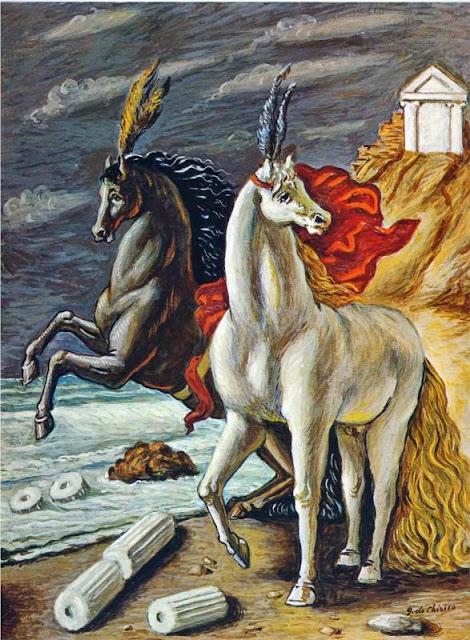 Giorgio de Chirico - The divine horses, 1963