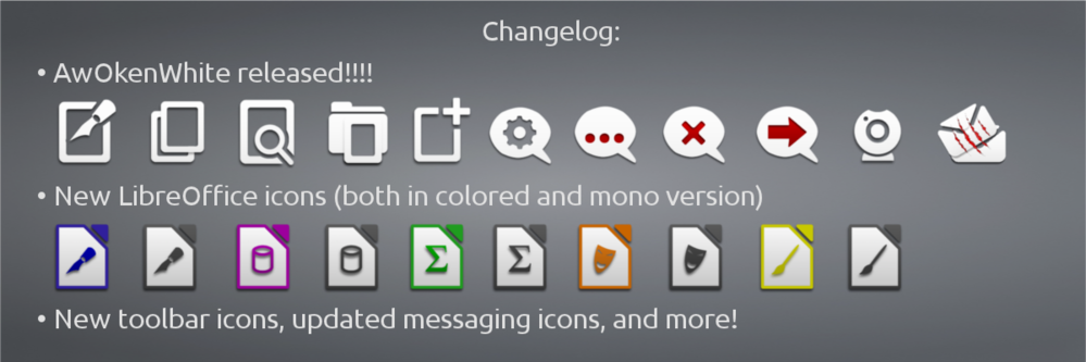 AwOken Icon Theme 2 3 Released With Full Unity Support, Improved