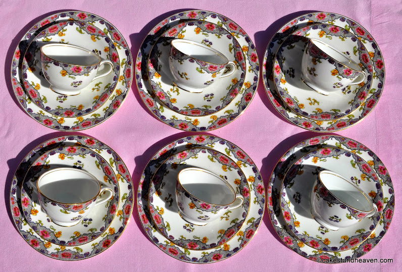 Aynsley antique teacups pattern no. A3541