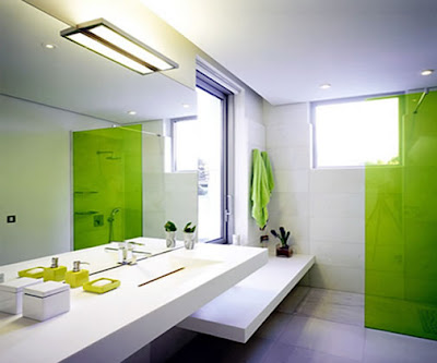 Bathroom Interior Design Green Color