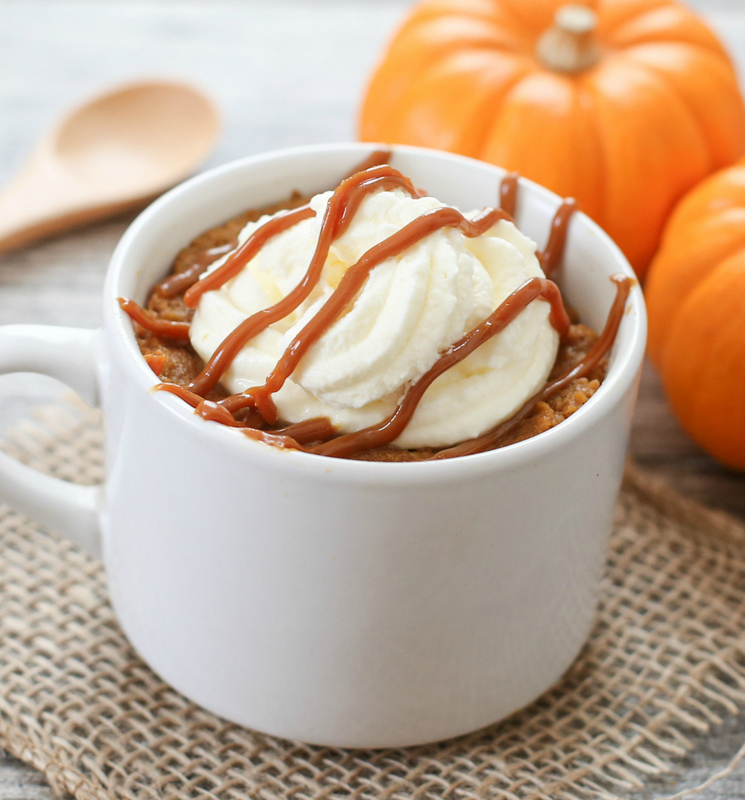 close-up photo of a Pumpkin Pie Mug Cake