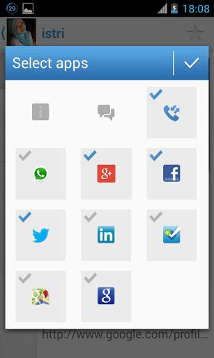 Contact Plus Connet dengan Semua, satu aplikasi untuk semua social media.