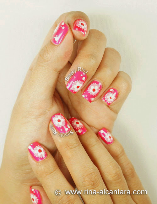 Flower Patches Nail Art Design