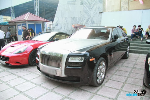 Dàn siêu xe trong đám cưới siêu mẫu Ngọc Thạch - DIENANH24G
