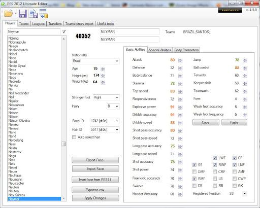 Ultimate Editor v4.2.5 - PES 2012
