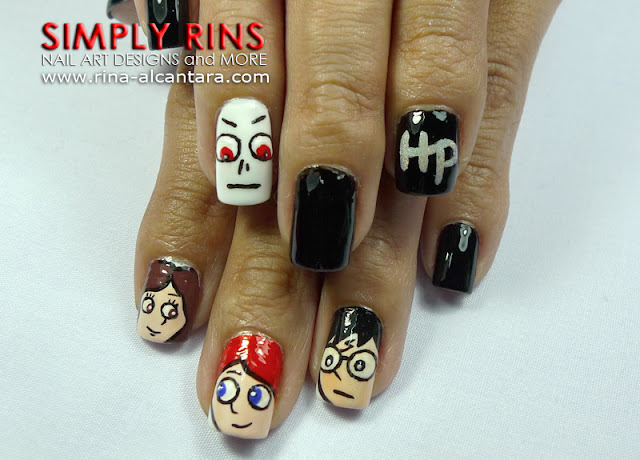 Harry Potter nail art design 03