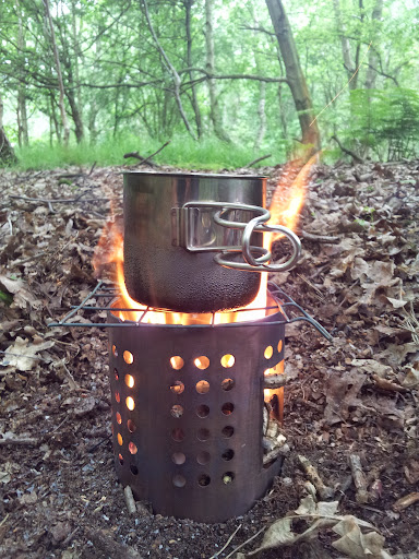 IKEA Hobo Stove in action