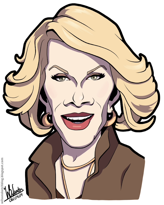 Cartoon caricature of Joan Rivers.